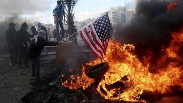 Protestos em Ramallah