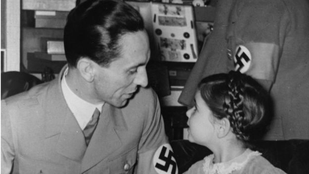 Goebbels e a filha Hilde