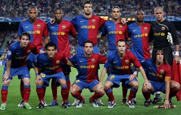 El Barcelona en 2008.