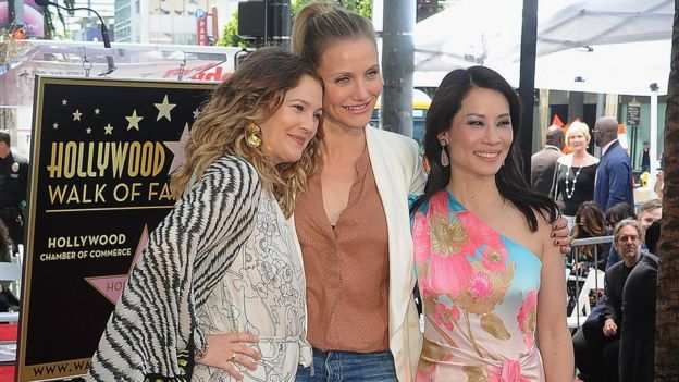 Drew Barrymore, Cameron Diaz and Lucy Liu, pictured in 2019