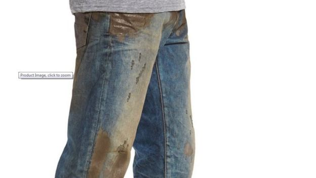 Clothing firm Nordstrom castigated for $425 mud-coated jeans - BBC ...