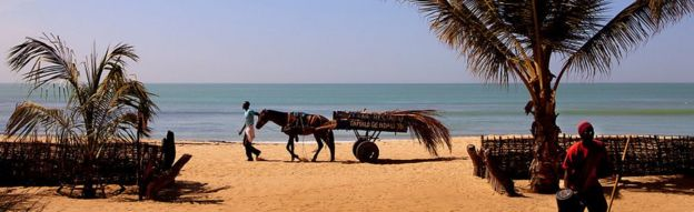 A beach in Senegal