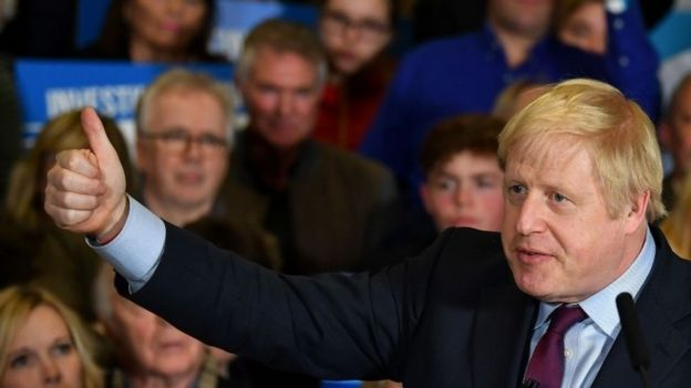 Boris Johnson at a campaign rally