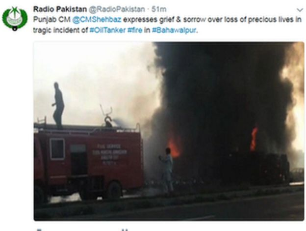 Radio Pakistan tweet