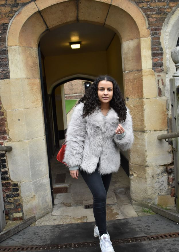 Anoushka looking round Cambridge University