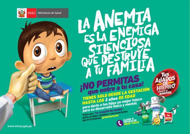 Campaña contra la anemia del Plan Nacional para la Reducción de la Anemia 2017-2021 del Ministerio de Salud de Perú.