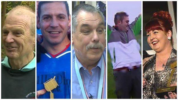 Rhai o enillwyr Arwr Tawel BBC Cymru y gorffennol