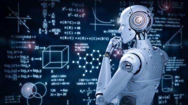 Un robot analizando un tablero con problemas