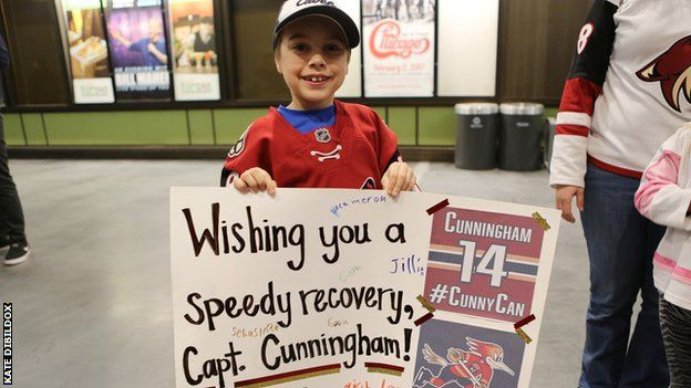 Fans show support for Craig Cunningham