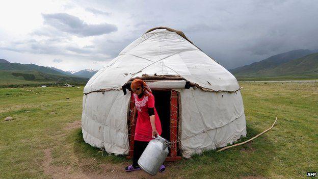 Traditional Kyrgyz yurt