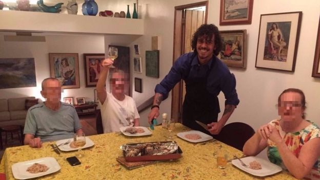 Jantar canábico no Rio