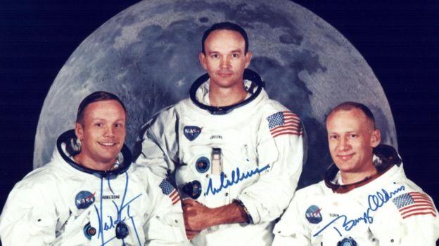 Neil Armstrong, Michael Collins e Buzz Aldrin