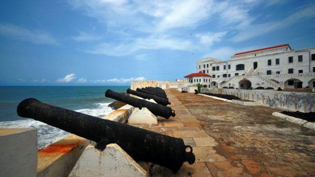 بعض المعالم الأثرية في غانا.