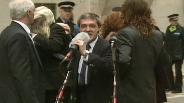 Paddy Hill speaking after his release from prison