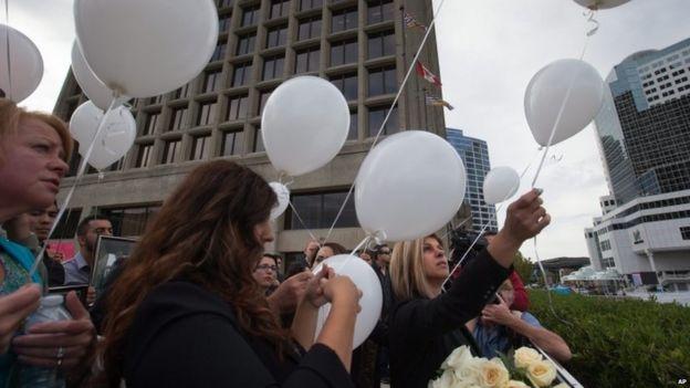 A memorial service for Alan Kurdi
