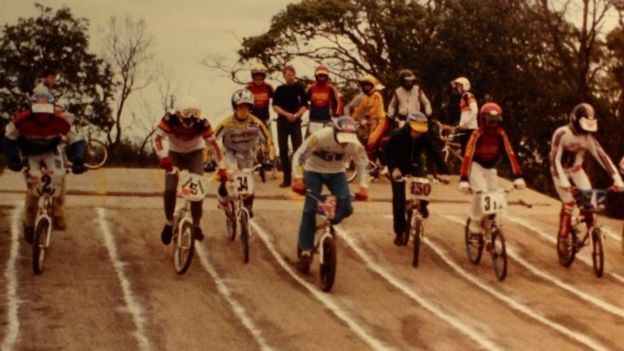 Archive picture of the BMX track at Lambeg