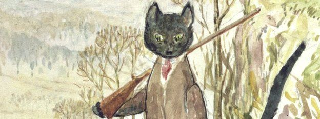 Beatrix Potter's illustration for Kitty-in-Boots