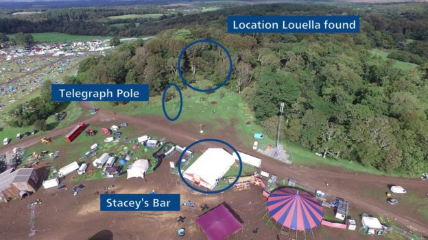 Aerial shot of Bestival site
