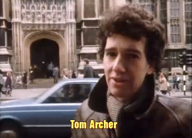 Том Арчер в 1983 году, когда он по-прежнему работал фрилансером для Би-би-си