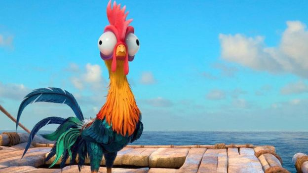 《疯狂动物城》中的蠢萌公鸡Heihei是个智商极低的角色。(图片来源: Entertainment Pictures/Alamy)