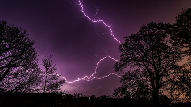 Lightning in West Wellow