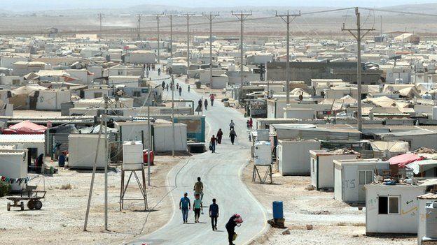 The UN-run Zaatari camp for Syrian refugees, north east of the Jordanian capital Amman