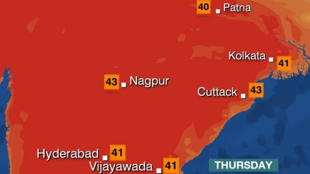 India weather Dangerous temperatures arrive early  BBC News