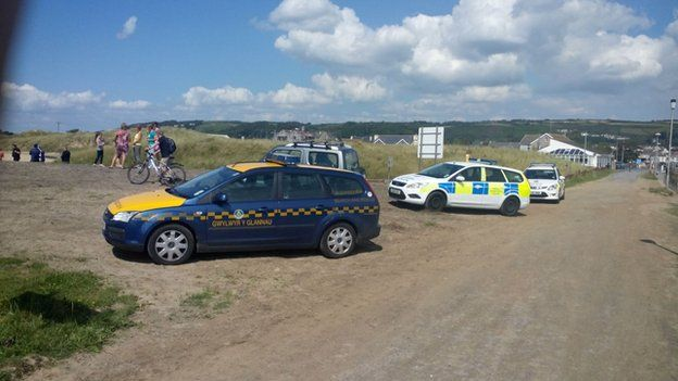Police at the beach