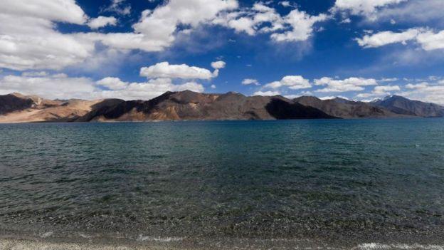 Lago Pangong en Ladakh.