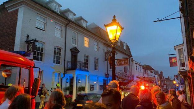 Wedding cancelled as fire engulfs reception venue in Rye