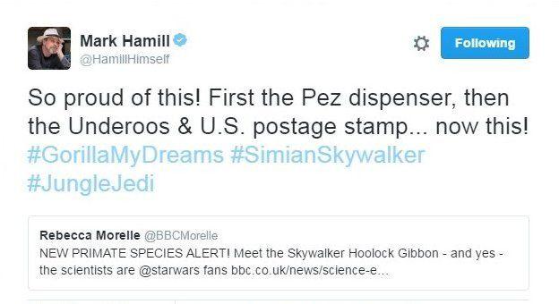 Tweet by Mark Hamill