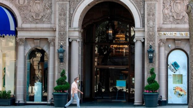 Beverly Hills Hotel en época de coronavirus.