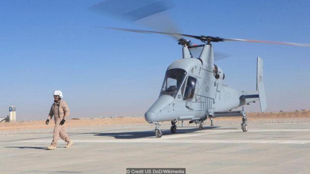 Trực thăng của Kaman's KMax đã bay thử nghiệm không người lái