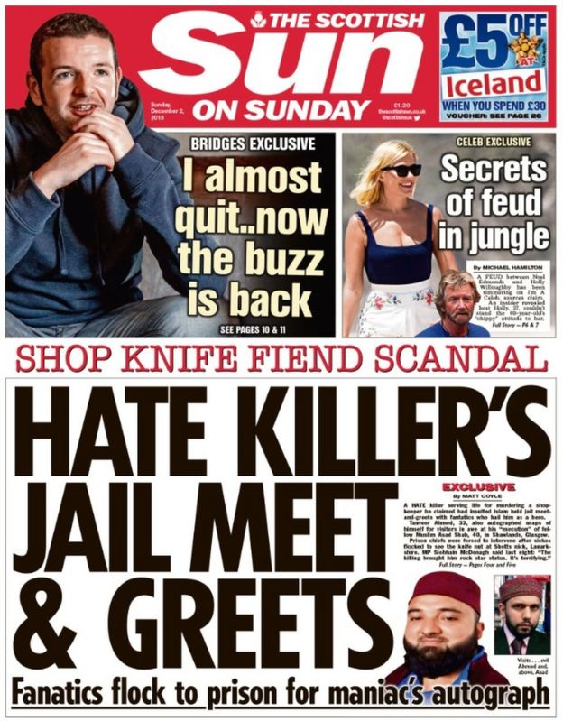 glasgow sunday papers