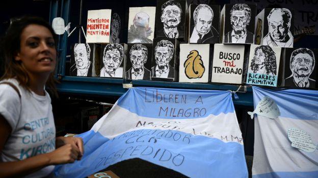 Protestas a favor de los gnocchis