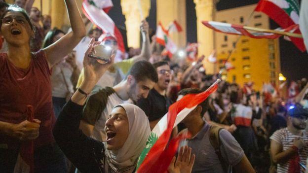 Protestas en el Líbano.
