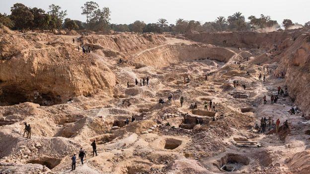 Mina de cobalto en la RDC