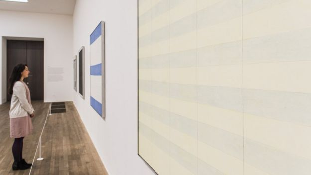 Agnes Martin exhibition, Tate Modern, 2015
