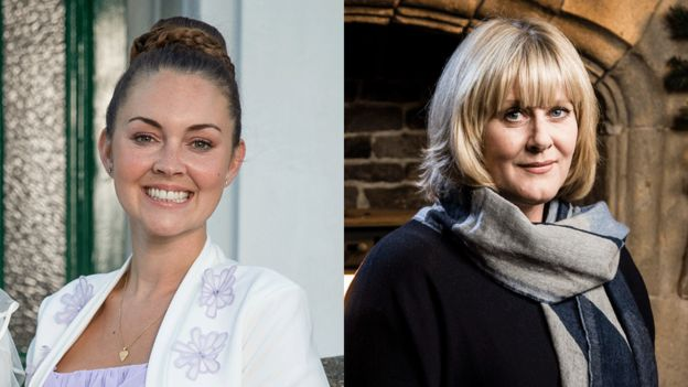 Lacey Turner and Sarah Lancashire