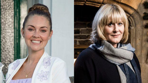 Lacey Turner and Sarah Lancashire