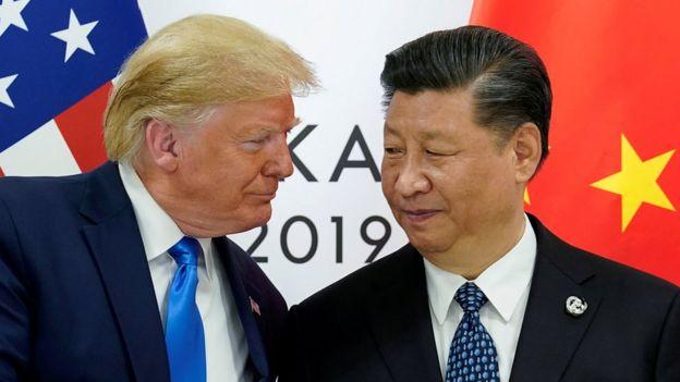 """特朗普曾表示,他相信习近平在处理香港示威浪潮上""""会作出正确的决定""""。"""