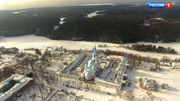 Screengrab from the Rossiya 1 documentary Valaam