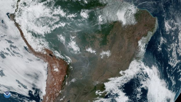 In this image, taken by NOAA-20, the smoke from these fires can be clearly seen. This true-color image was captured by the VIIRS sensor onboard NOAA-20, which provides daily, high-resolution visible and infrared images of Earth's atmosphere from across the globe.
