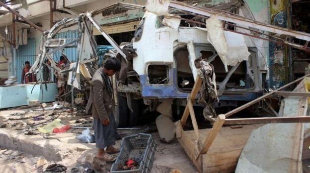 حمله هوایی نهم اوت ۵۱ نفر از جمله ۴۰ کودک را که در یک اتوبوس بودند کشت