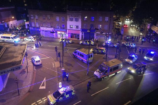 Scene of the alleged attack