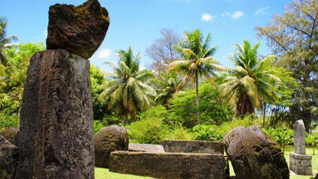Bloques de piedra en la isla Tinian