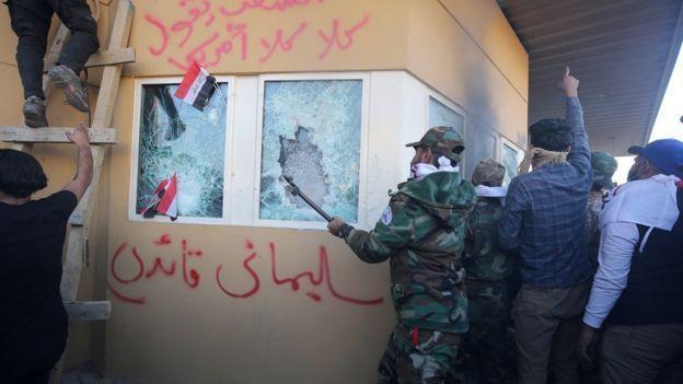 حمله به سفارت آمریکا در بغداد، چند روز پیش از کشته شدن قاسم سلیمانی