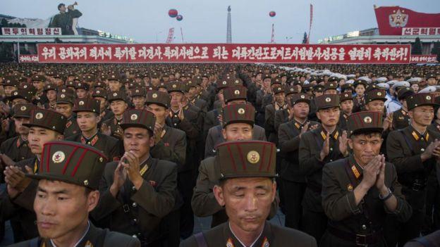 Resultado de imagen para Millones de norcoreanos se enlistan contra Estados Unidos