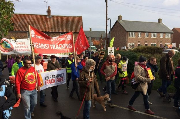 Anti-fracking march