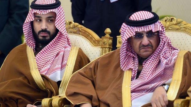 صورة تجمع ولي العهد السعودي محمد بن سلمان ابن عمه محمد بن نايف.